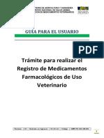 Registro de Medicamentos Farmacologicos de Uso Veterinario