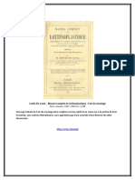 eBook Lottin de Laval - Manuel Complet de Lottinoplastique