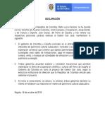 DECLARACIÓN COLOMBIA-ESPAÑA