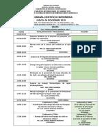 Programa Cientifico Enfermeria 2019