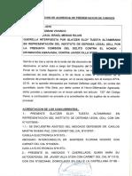 Resolución de No Ha Lugar abrir de instrucción contra Javier Villa Stein por delito de difamación agravada