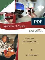 Physics-AMC1PRA MCA1PRA Presentation