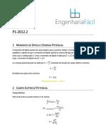 resolução_p1-_física_iii-_2012.2
