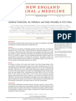Ambient Particulate Air Pollution and Daily Mortality in 652 Cities