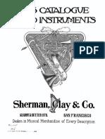 Catalogo de Instrumentos Sherman Clay - 1917