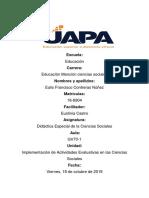 Tarea VI de Didactica Especial de La Ciencas Sociales