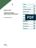 90114350 Hmi Basic Panels 2nd Generation Operating Instructions