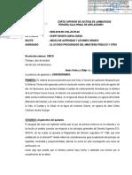 Resolución que confirma absolución de Evert Cueva