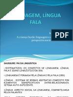 Língua, Linguagem e Fala