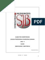 Silabo Ginecologia y Obstetricia 2019-1