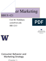 BBUS 421 - Chapter 1 - Consumer Behavior and Marketing Strategy
