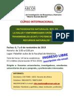 Programa Difusión Curso Internacional Antioxidantes