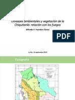 Unidades ambientales y vegetación de la Chiquitanía