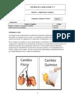 Informe de Cambios Fisicos y Quimico