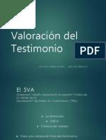 Valoracion de testimonio