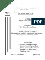 PROYECTO C. Bajo Rendimiento Académico en Alumnos de Nivel Primaria, Como Consecuencia Del Ambiente Familiar (1)
