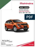 [TM] Mahindra Manual de Propietario Mahindra Xuv500 2015 en Ingles