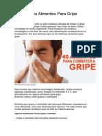40 Melhores Alimentos Para Gripe