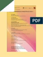 Programa. Ciclo de Conferencia Magistrales 2020-1