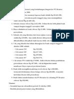 Berikut Ini Adalah Informasi Yang Berhubungan Dengan Kas PT Brantas Pada Tanggal 1 Oktober 2000