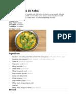 Manjula's Kitchen Recipes