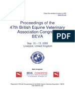 Proceedings of the 47th British Equine Veterinary Association Congress BEVA Sep. 10 – 13, 2008 Liverpool, United Kingdom