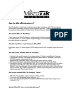 Apa Itu MikroTik Academy
