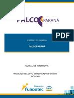 Edital sinfônica do Paraná