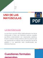 Uso de Las Mayusculas