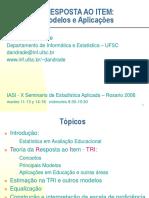 Teoria Da Resposta Ao Item - Iasi - Rosario 2006