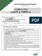Prova Gcm Petrolina Tipo A