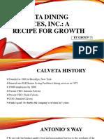 Calveta Dining Services, InC