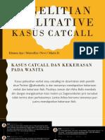 Penelitian Qualitative Kasus Catcall Indonesia