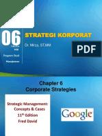 Pertemuan 6 Strategi Korporat