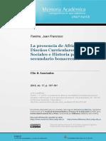 La presencia de África en los Diseños Curriculares de Ciencias Sociales e Historia para el nivel secundario bonaerense