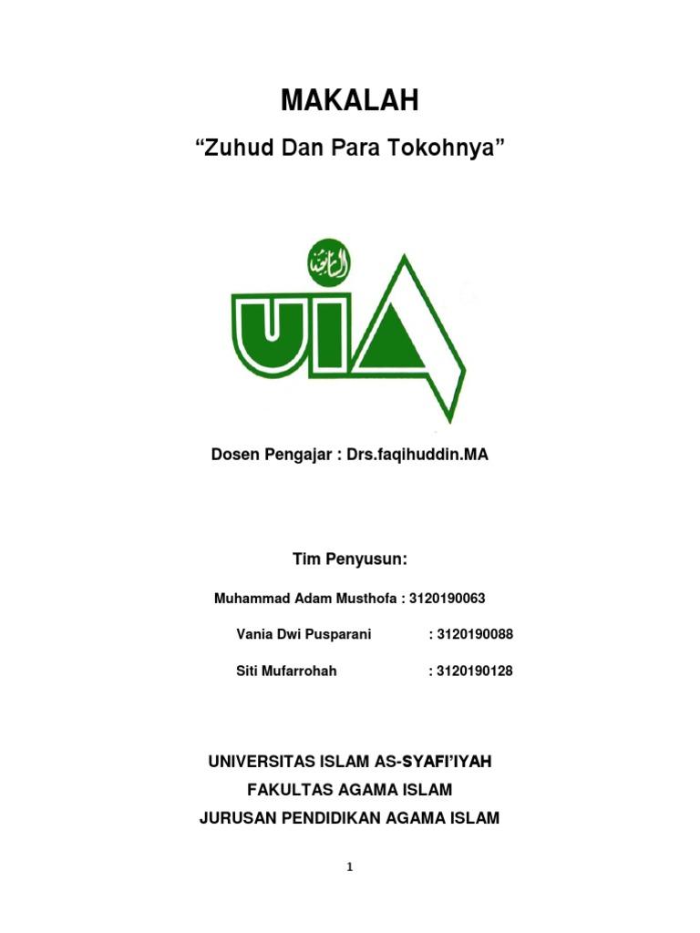 Makalah Zuhud Docx