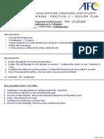 AFC GK Level 1 - Functional Training Practical - Dealing With 1 v 1 - PR