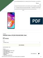 Jual Smartphone SAMSUNG Galaxy A70 (SM-A705) 6GB_128GB - Black - SAMSUNG Smart Phone Android Terbaru, Murah Di Bhinneka.com
