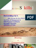 Communication Skills - Dr.giridhar K.V.