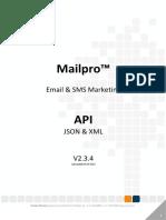 Mailpro API