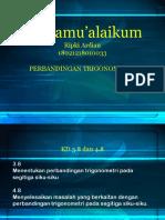 PPT Perbandingan Trigonometri