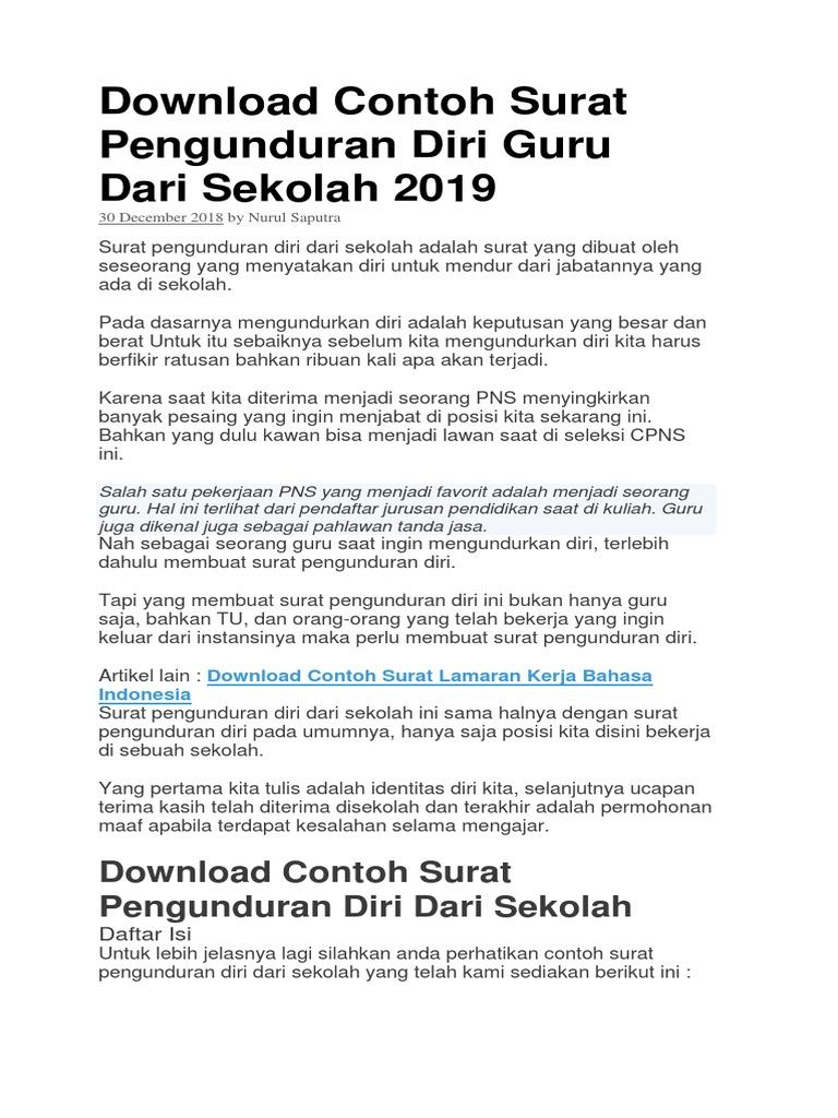 3 Contoh Surat Lamaran Kerja Sesuai Eyd Surakarta Docx