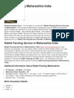 Rabbit Farming Maharashtra India