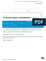HP Flat Panel Monitors - Color Screens (Red, Green, Blue) Appear Instead of Standby Screen _ HP® Customer Support