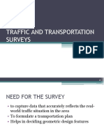 Traffic and Transportation Surveys