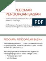 Pedoman Pengorganisasian