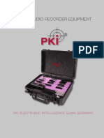 7 PKI Digital Audio Recorder Equipment Flyer 2015