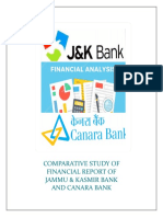 comparative study of Financial Statement reports of canara bank and comparative bank