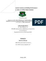 Effects of Financial Analysis on Banking Performance ...Final Report