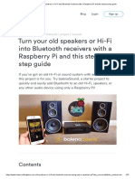 Turn Your Old Speakers or Hi-Fi Into Bluetooth Receivers With a Raspberry Pi and This Step-By-step Guide